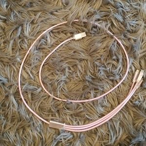 Accessories - Pink 3 in 1 charger